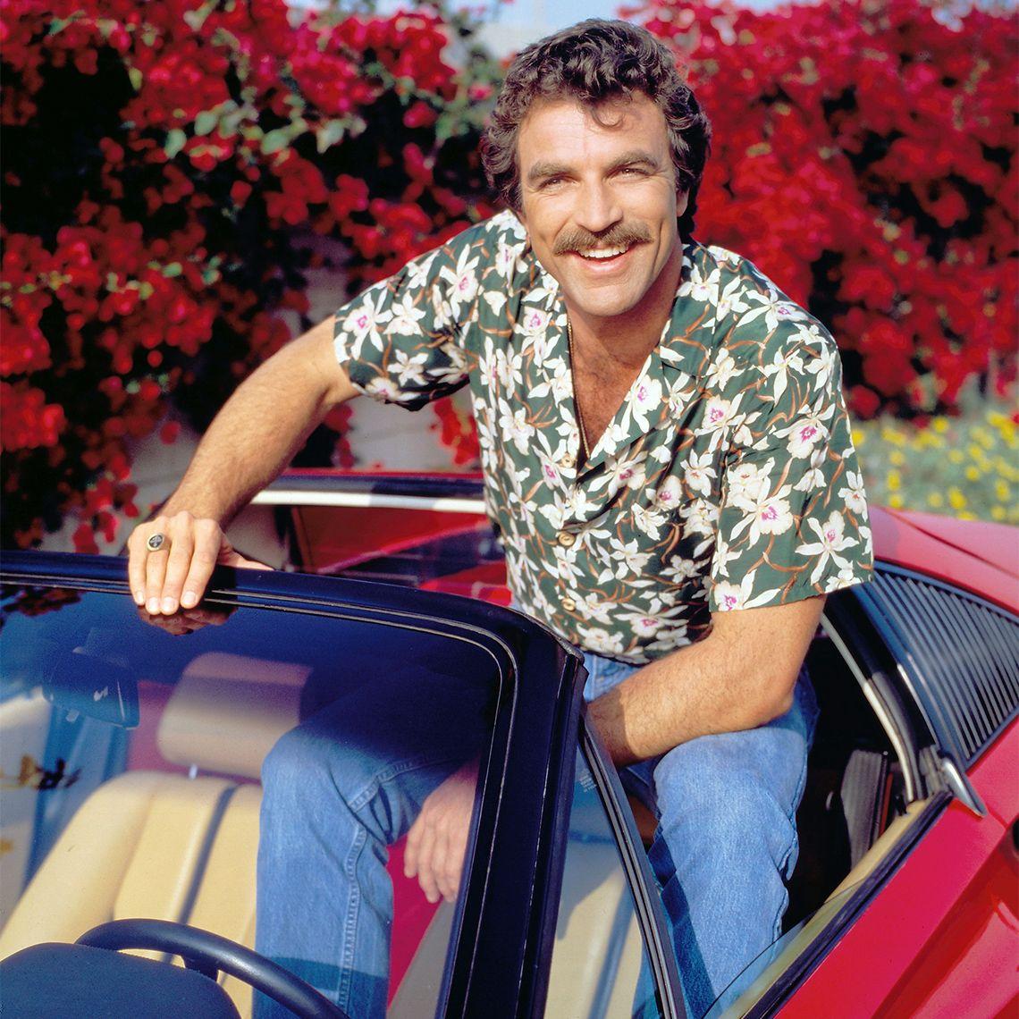 Tom Sellect wearing a Hawaiian shirt
