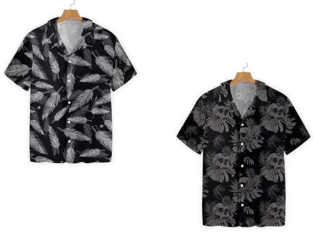 Goth hawaiian shirts